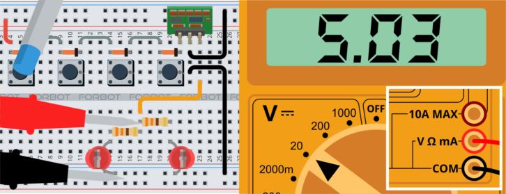 Układ zasilany przez trzy diody – na wyjściu nadal 5V