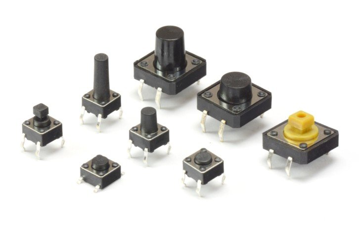Przykładowe przełączniki tego typu w różnych obudowach i rozmiarach