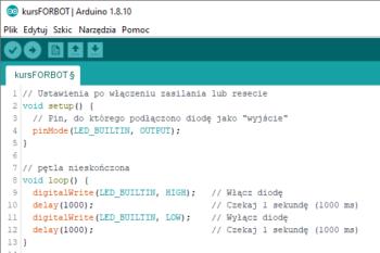 Przykładowy program dla Arduino