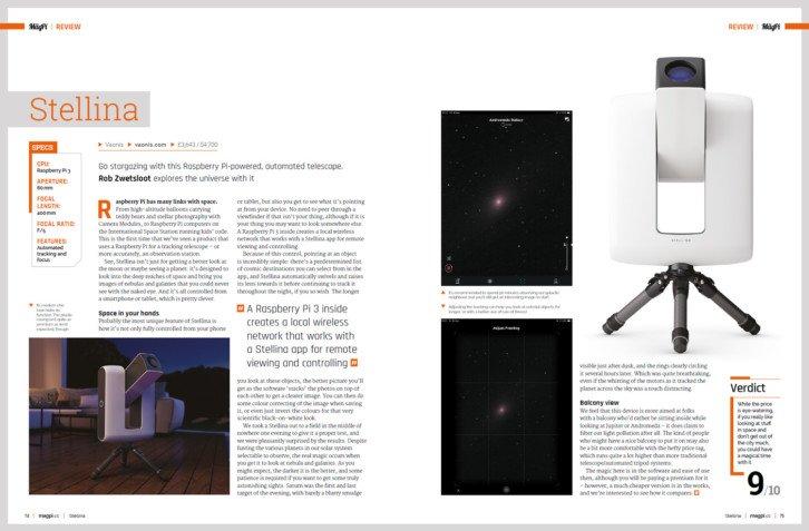 Cyfrowy teleskop z dedykowaną aplikacją