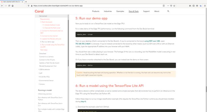Informacje na temat wykorzystania TPU z dokumentacji Google