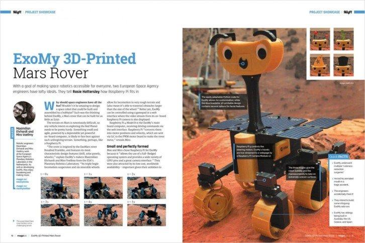 Pełnoprawny łazik marsjański prosto z drukarki 3D