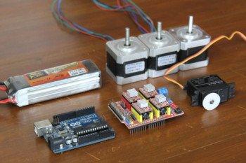 Podzespoły użyte do stworzenia robota