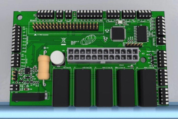Nowa wersja PCB robota