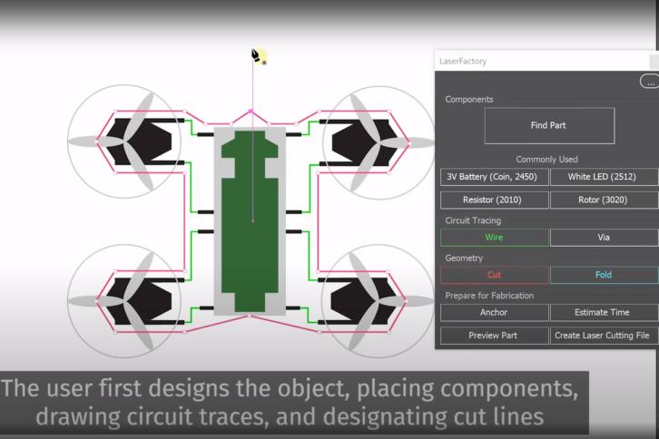 Zrzut ekranu z oprogramowania służącego do projektowania