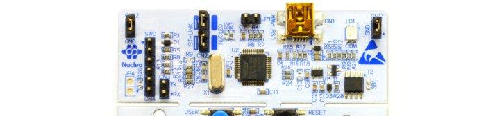 Górna część płytki NUCLEO-L476RG to uniwersalny programator