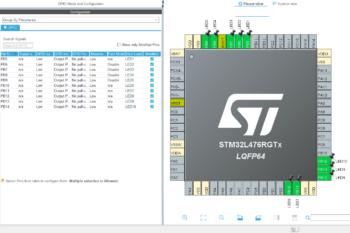Graficzny konfigurator sprzętu (w STM32CubeIDE)