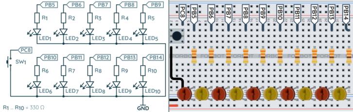 Schemat ideowy oraz montażowy dla wersji z dodatkowym przyciskiem