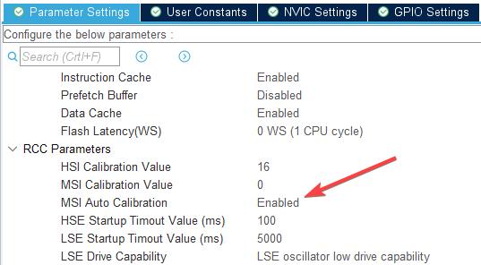 Automatyczne włączenie kalibracji MSI