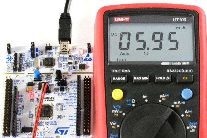 Pomiar prądu przy zmienionej zawartości pętli while