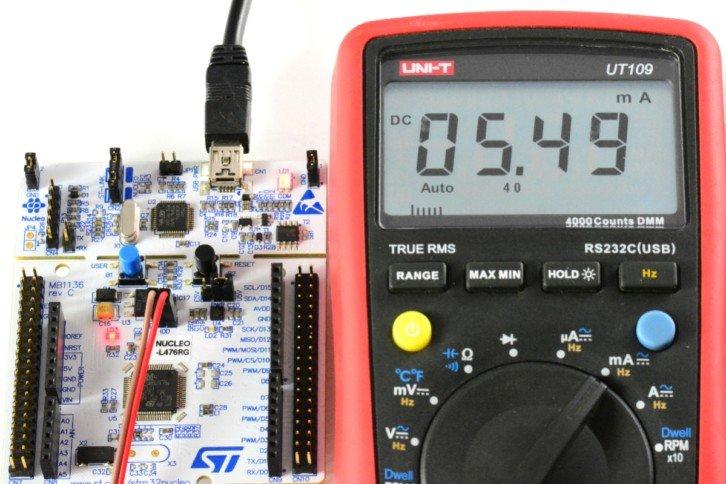 Pomiar prądu przy wyłączonym module UART
