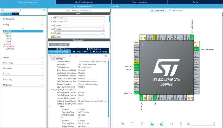 Nowa wersja ustawień przetwornika ADC w CubeMX