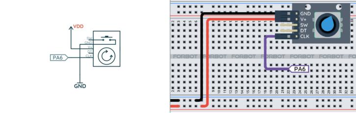 Schemat ideowy i montażowy do pomiaru szerokości impulsu