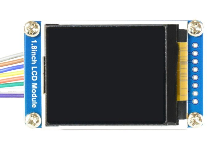 Wyświetlacz graficzny TFT używany podczas tej części kursu STM32L4