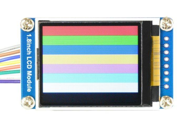 Efekt działania programu rysującego kolorowe prostokąty
