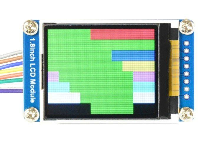 Test wyświetlania niebieskich kwadratów