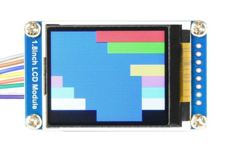 Test wyświetlania niebieskich kwadratów (poprawiona wersja)