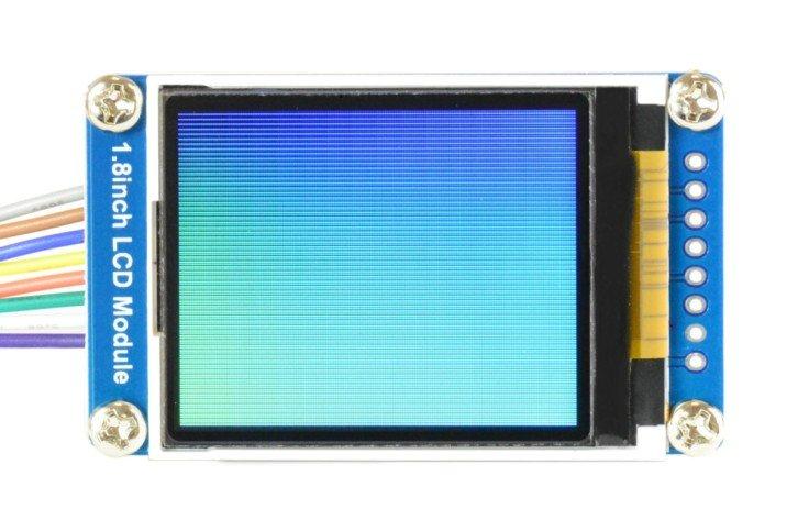 Wyświetlanie kolorowego gradientu za pomocą nowej wersji biblioteki