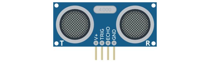 Przykładowy moduł HC-SR04 (niektóre wersje modułu mogą wyglądać trochę inaczej)