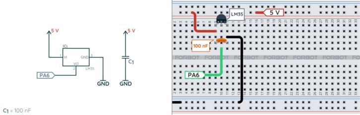 Schemat ideowy i montażowy ostatecznej wersji czujnika odległości