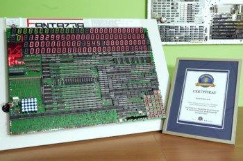 Oficjalny rekord Polski! Kalkulator z 477 układów scalonych!